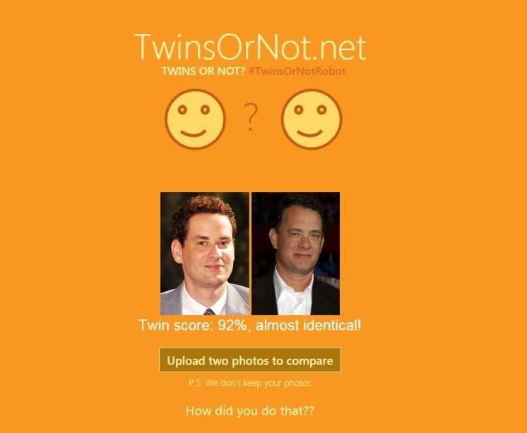 De acordo com o Twin or Not?, Dan Stulbach e Tom Hanks são idênticos