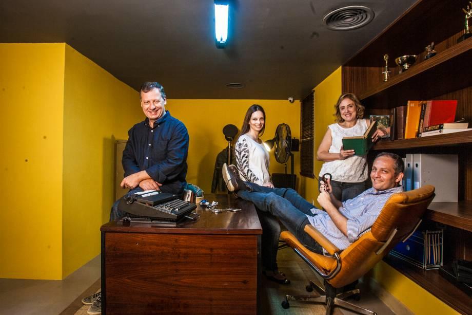 Márcio Abraham, Karina Papautsky,Jeannette Galbinski e José Roberto Szymonowicz: quarteto de sócios