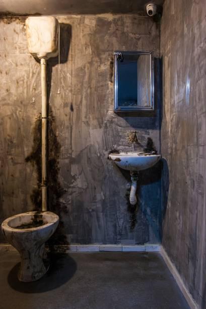 O banheiro da prisão