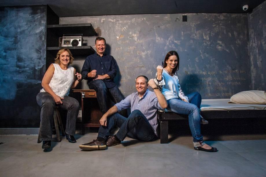 Jeannette Galbinski, Márcio Abraham, José Roberto Szymonowicz e Karina Papautsky: ideia veio de uma viagem a Paris