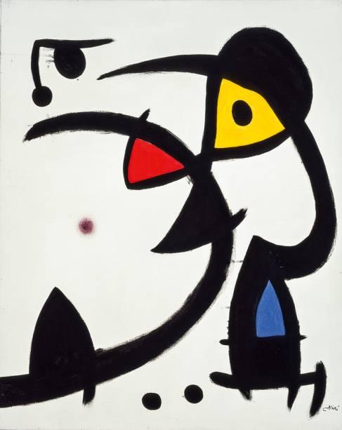 Joan Miró: Dois Personagens Caçados por um Pássaro (1976)