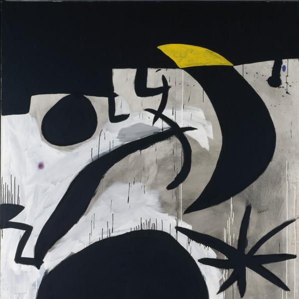 Mujer y Pájaros en la Noche