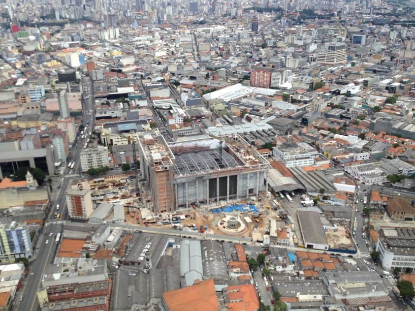 Vista aérea da obra: 70 mil metros quadrados