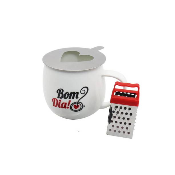 """Caneca com ralador e stencil para café, R$ 79,90, da <a href=""""http://uatt.com.br/"""" rel=""""Uatt"""" target=""""_blank"""">Uatt?</a>"""