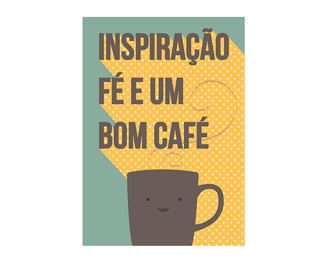 """Poster """"fé e café"""", R$ 71,90, na <a href=""""http://www.oppa.com.br/"""" rel=""""Oppa"""" target=""""_blank"""">Oppa</a>"""