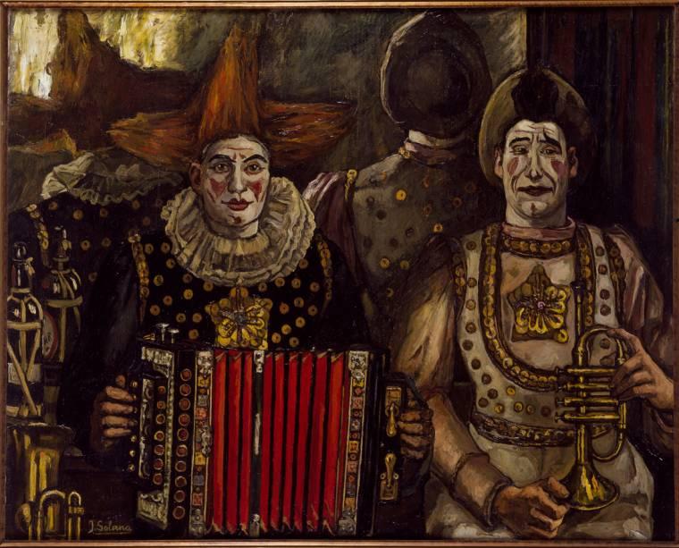 Palhaços (1920), de José Gutiérrez Solana