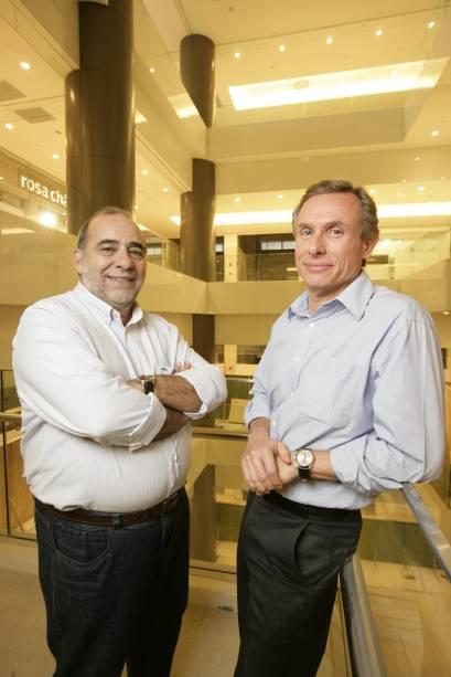 O diretor de shopping centers, José Roberto Voso, e o diretor de desenvolvimento, Hilton Rejman, da empresa CCP