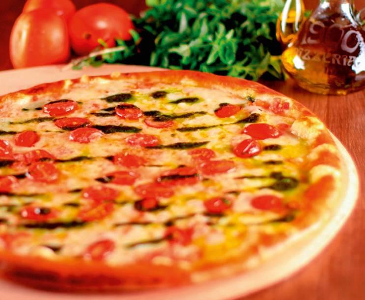 Sem lactose: liguria é a nova cobertura, composta de queijo de ovelha, pesto e tomate-cereja
