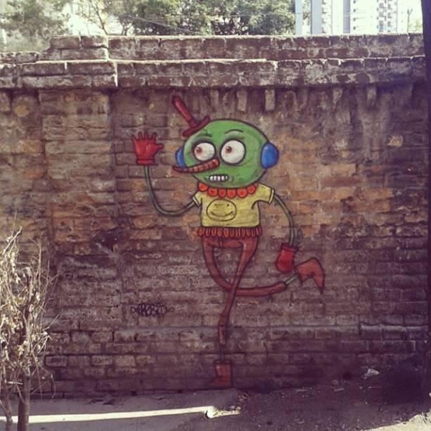 Artista Presto desenhou seus personagens pela Barra Funda