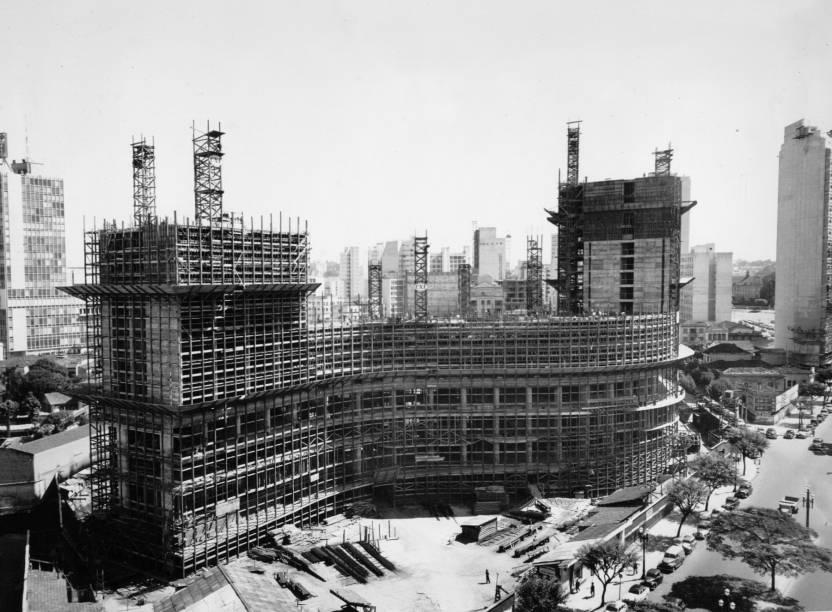 Copan: foto da construção do edifício na década de 1950