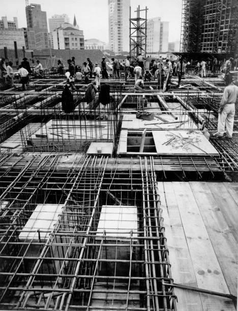 Copan: foto tirada para registrar o início da contrução do primeiro pavimento