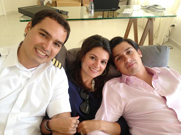 Thomaz Alckmin com os irmãos, Sophia e Geraldo