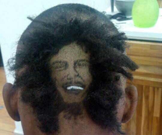 Imagem do músico Bob Marley criada por Nariko