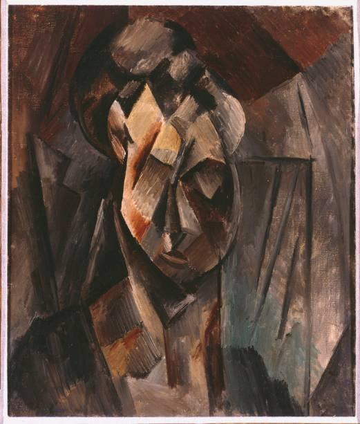 Cabeça de Mulher (Fernande), de Picasso (1910)