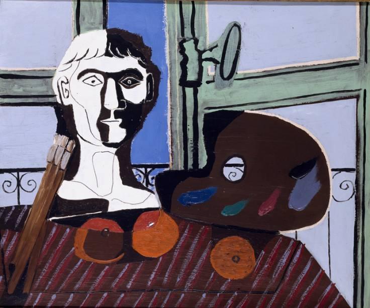 Busto e Paleta (1925), de Pablo Picasso