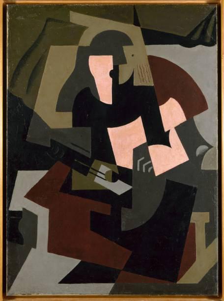 Mulher com Guitarra (1917), de María Blanchard