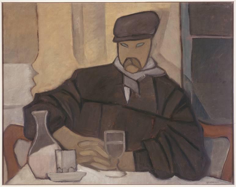 Homem no Café (Atocha), de Rafael Barradas (1923)