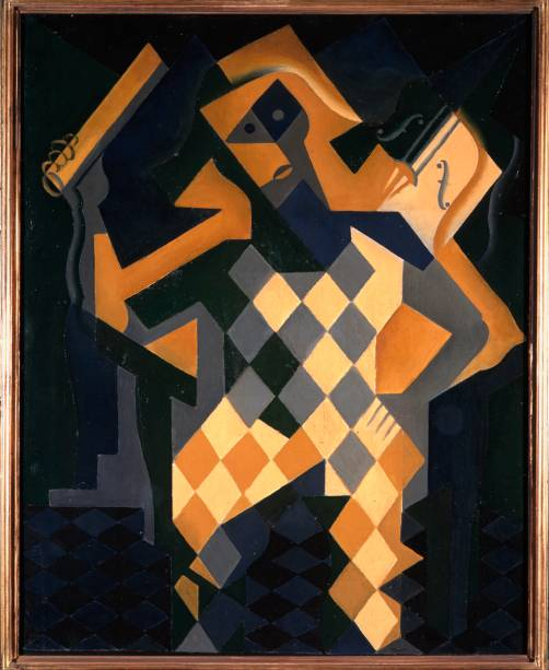Arlequim com Violino (1919), de Juan Gris