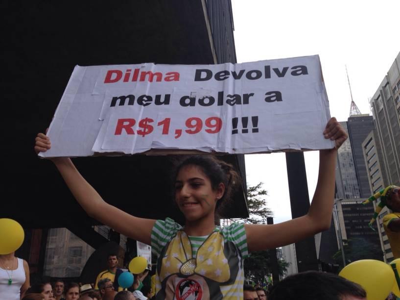 "Dilma, devolva meu dólar a R$ 1,99"""