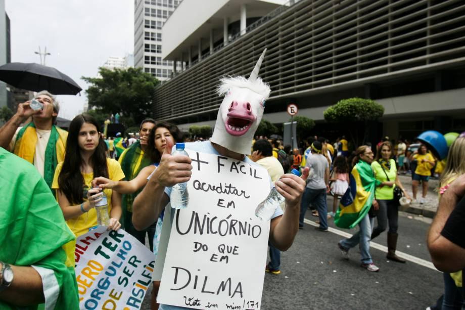 """Mais fácil acreditar em unicórnio do que na Dilma"""""""