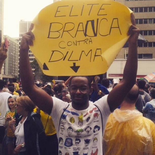 "Elite branca contra Dilma"""