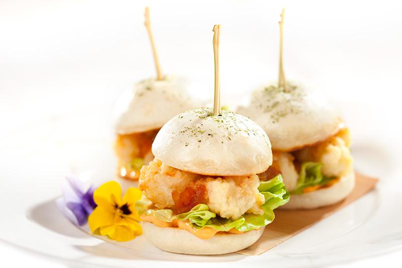 Nobu: sanduichinhos de tempurá do room service
