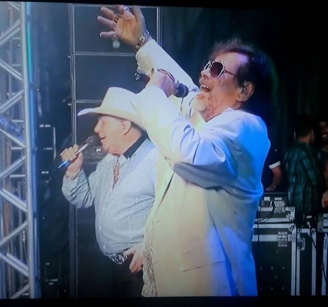 José Rico ao lado de Milionário, seu companheiro de palcos