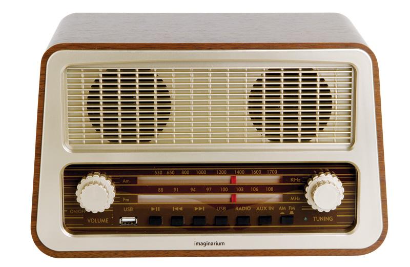 1. Rádio com amplificador, da Imaginarium: R$ 399,00