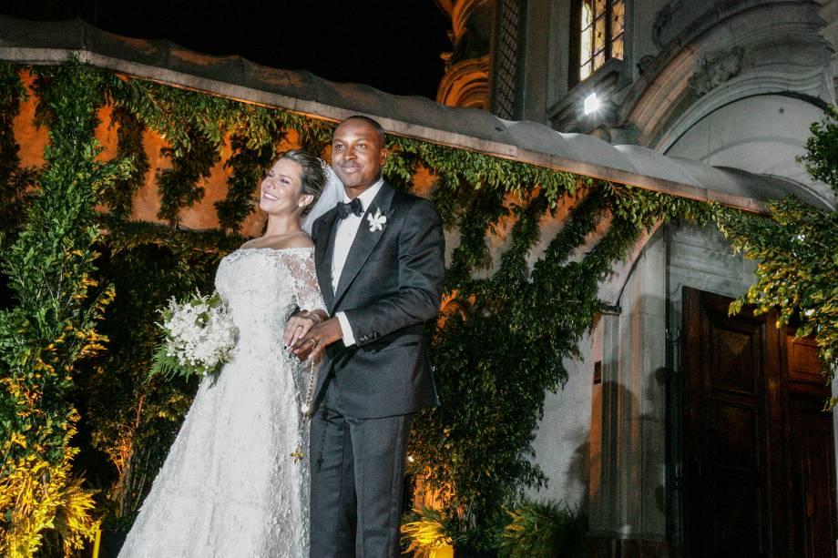Os noivos Thiaguinho e Fernanda Souza