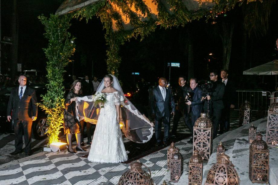 Mais da chegada da noiva a uma das igrejas mais badaladas de São Paulo