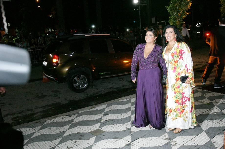 A cantora Preta Gil e a apresentadora Regina Casé