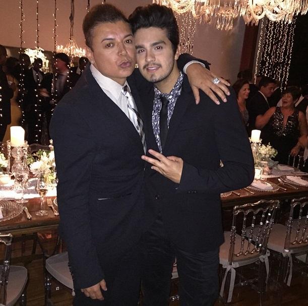 David Brazil e o cantor Luan Santana