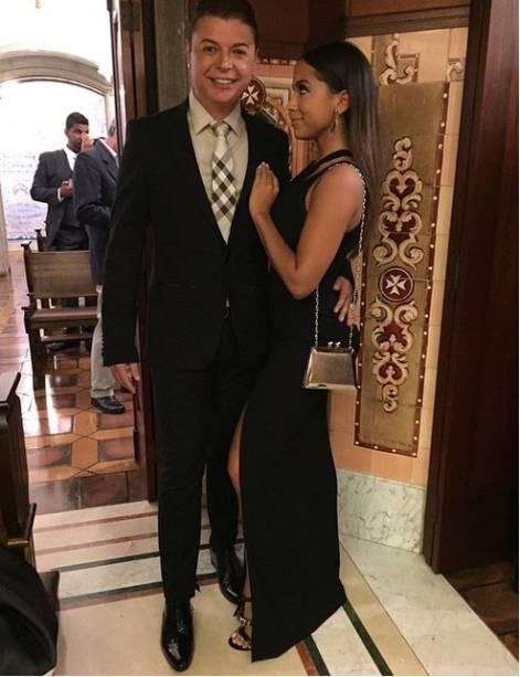 David Brazil postou foto antes do casamento