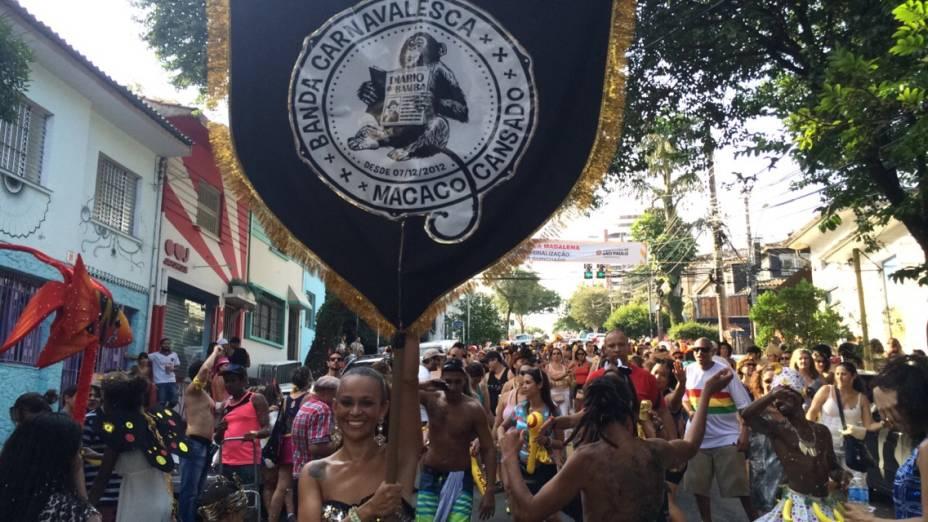 Bandeira daBanda Carnavalesca Macaco Cansado