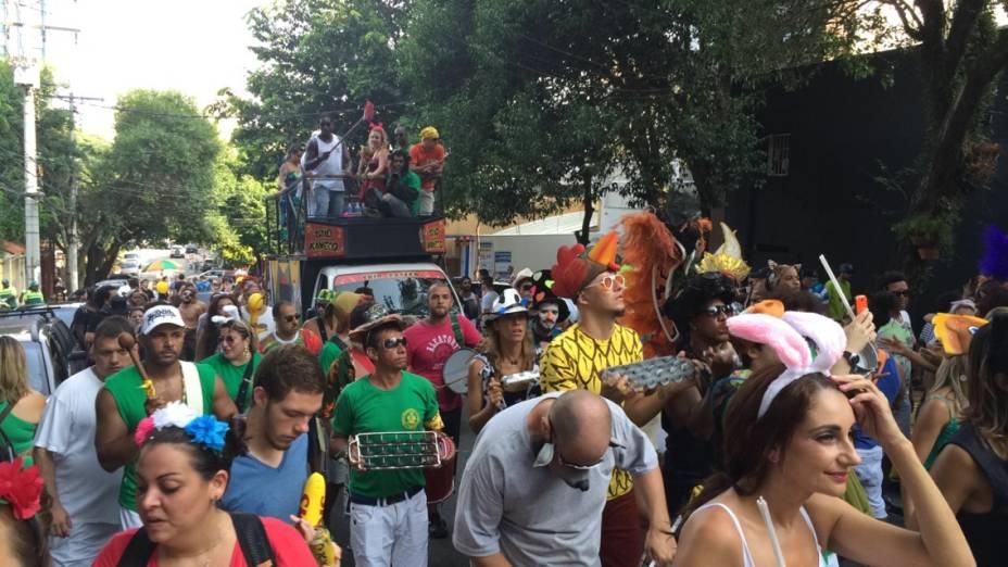 Fantasias ainda foram aposta para curtir o bloco daBanda Carnavalesca Macaco Cansado