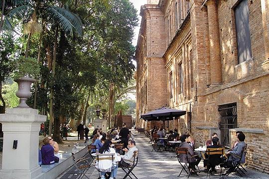 Café da Pinacoteca, próximo à estação Luz do metrô