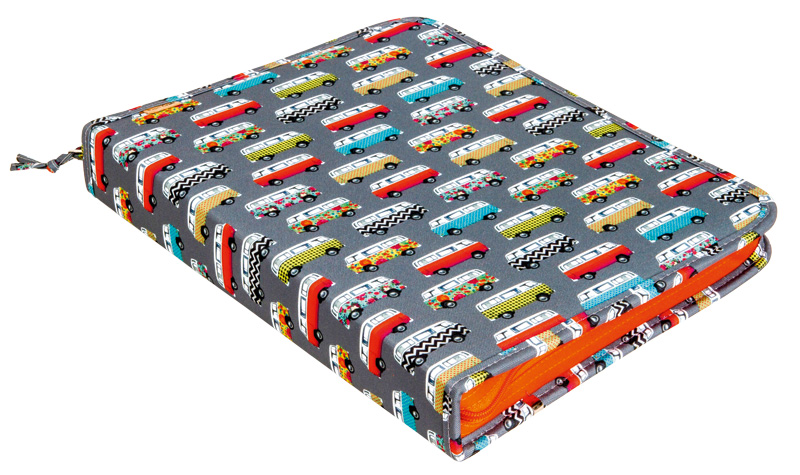 Fichário com estampa de ônibus da Papel Craft é ótima opção para começar o ano em grande estilo
