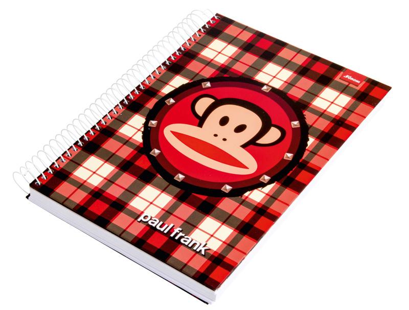 Caderno universitário do Paul Frank, da Foroni