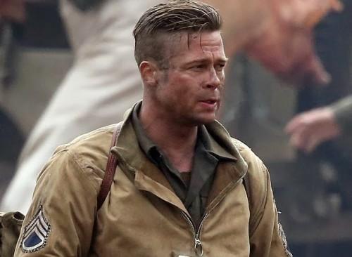 Brad Pitt em Corações de Ferro
