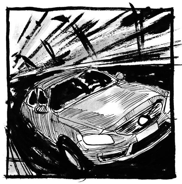 O condutor de um Volvo S60 em alta velocidade perdeu o controle da direção