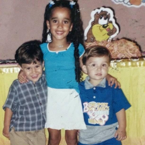 MC Gui com os irmãos, Gustavo e Stefani