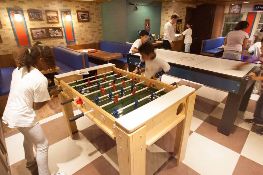 O salão de jogos
