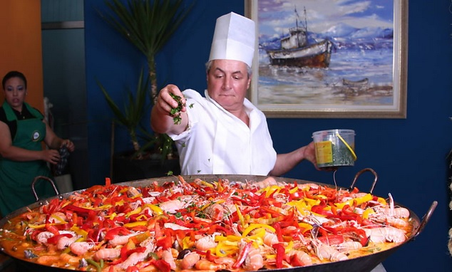 Festival de pescado da Ceagesp: paella
