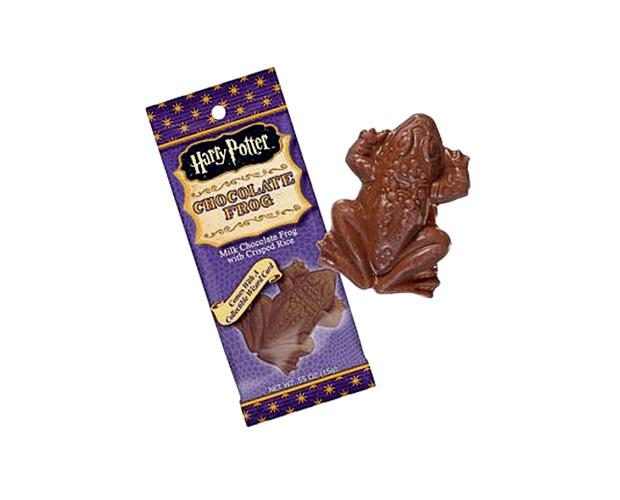 Sapos de chocolate: os doces vêm acompanhados de imagens dos bruxos mais famosos da história