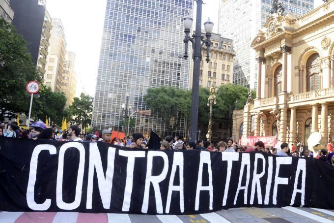 Protesto contra a tarifa passe livre