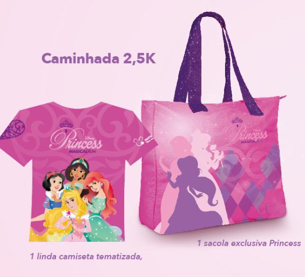 Princess Magical Run: kit para quem for participar da caminhada