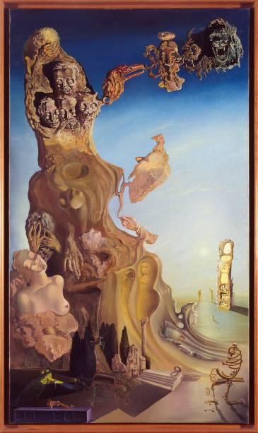 A tela A Memória da Mulher-Menina:uma das 218 obras da retrospectiva