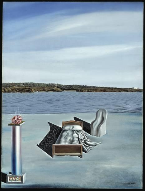 Composición Surrealista con figuras invisibles (1936)