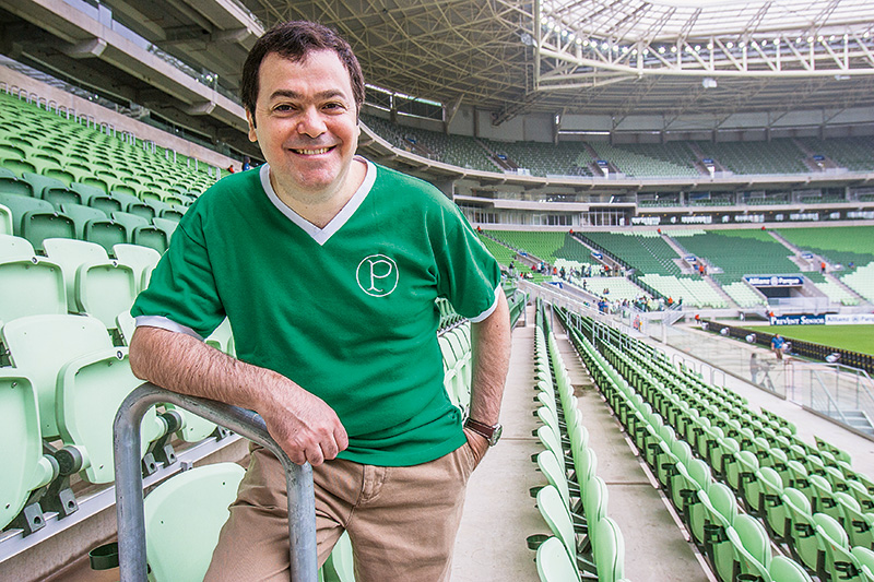 """O diretor de negócios, Rogério Dezembro: """"O estádio ficou mais parecido com um shopping ou um hotel"""""""