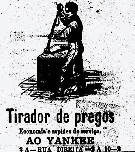 Ilustrações simples nos reclames: ainda em preto e branco
